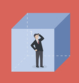 Businessman in the box vector image vector image