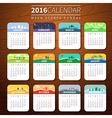 calendar template 2016 vector image vector image