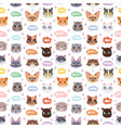 cats heads seamless pattern vector image vector image