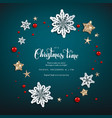 chistmas blue invitation vector image vector image