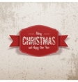 Christmas realistic greeting red Card and Ribbon vector image vector image