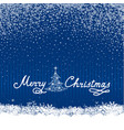 christmas snow background with new year tree and vector image vector image