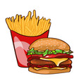 colorful fast food concept vector image vector image
