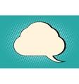 Comic bubble cloud silhouette vector image vector image