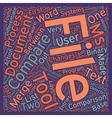 Compare Two Text Files text background wordcloud vector image vector image