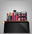 cosmetic makeup products beauty fashion set vector image vector image