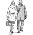 couple on a stroll vector image vector image