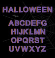 decorative font set vector image vector image
