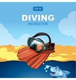diving background vector image