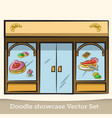 doodle showcase confectionery set vector image vector image