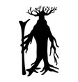ent tree silhouette ancient legend fantasy vector image vector image