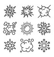 explosion fireworks and boom icons set on white vector image
