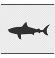 fish icon black color on transparent vector image vector image
