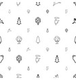 forest icons pattern seamless white background vector image vector image