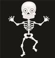 Funny skeleton cartoon vector image vector image