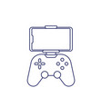 gamepad for smartphone line icon on white vector image vector image