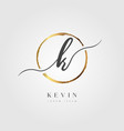 gold elegant initial letter type k vector image vector image