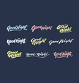 good night vintage hand lettering typography vector image vector image