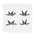 grass gardening icon vector image vector image