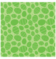 green easter seamless pattern with eggs vector image
