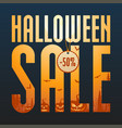 halloween sale concept vector image