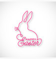 happy easter linear lettering vector image vector image