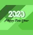 happy new year 2020 with flat background design vector image vector image
