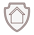 home protection icon image vector image