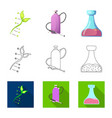 isolated object of and logo set of and s vector image