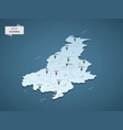 isometric 3d slovenia map concept vector image vector image