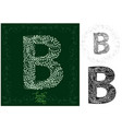 leaves alphabet letter b vector image vector image