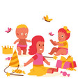 little dolls collection banner vector image