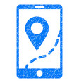 mobile map navigation grunge icon vector image vector image