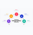 modern infographic template with five steps or vector image