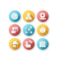 networking flat design long shadow glyph icons set