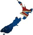 New Zealand map with flag inside vector image