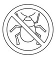 no virus bug icon outline style vector image