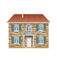 Old country house with a stone wall vector image vector image