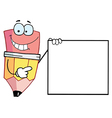 Pencil Presenting A Blank Sign vector image vector image