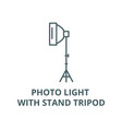 photo light with stand tripod line icon vector image vector image