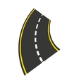 roadway landscape isolated icon vector image
