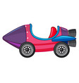 rocket car in purple and pink color vector image