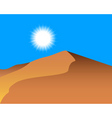 sand dunes vector image vector image