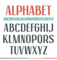 Sans serif narrow font vector image vector image