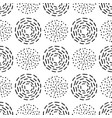 seamless pattern with different round ink vector image vector image