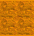 seamless pattern with images for halloween vector image vector image