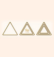 set abstract golden triangular frames vector image