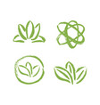 set abstract template logo design with leaves vector image
