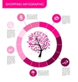 Shopping infographic Design for your business vector image vector image