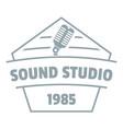 sound studio logo simple gray style vector image vector image